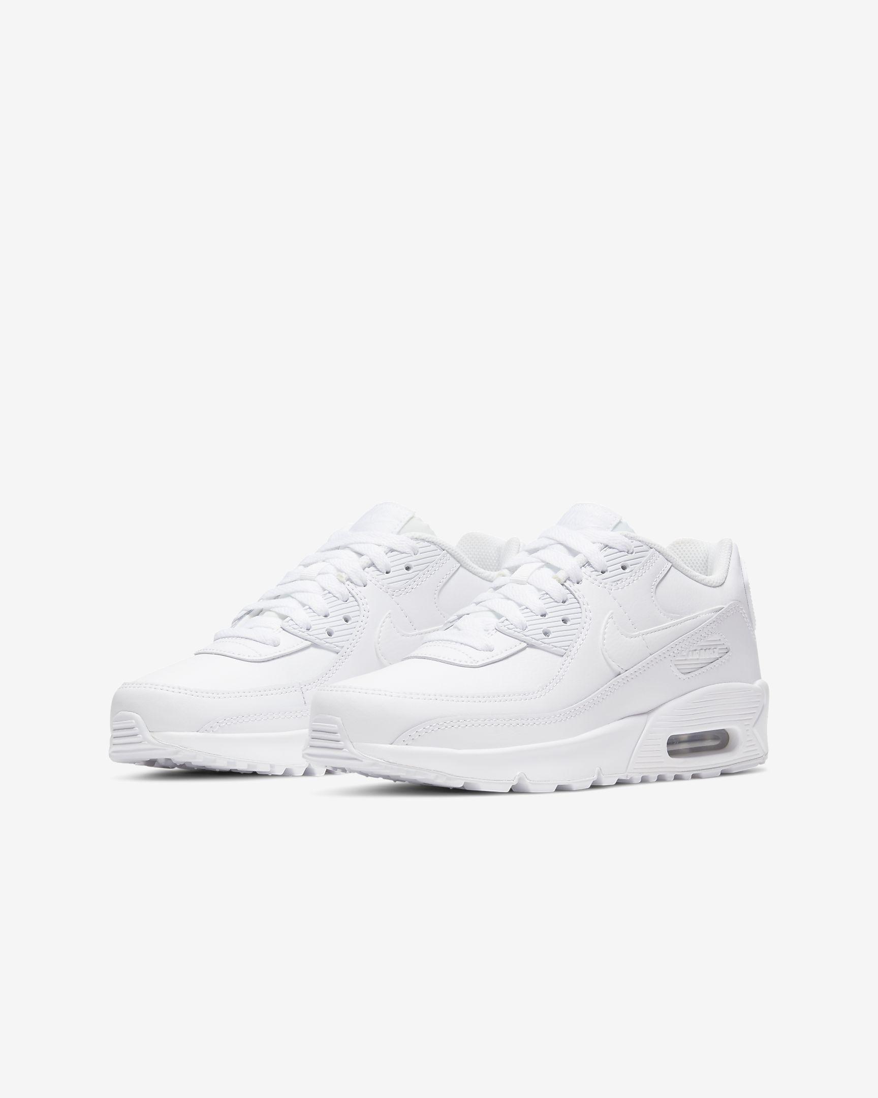 Tenisky Nike Air Max 90 Kožené Biele-WWW.AIRFORCE.SK